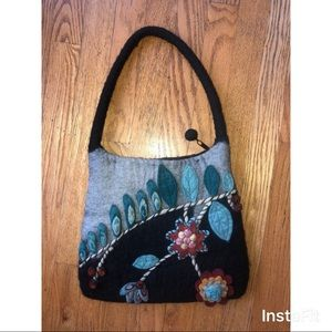 NWOT Super cute felted wool purse.
